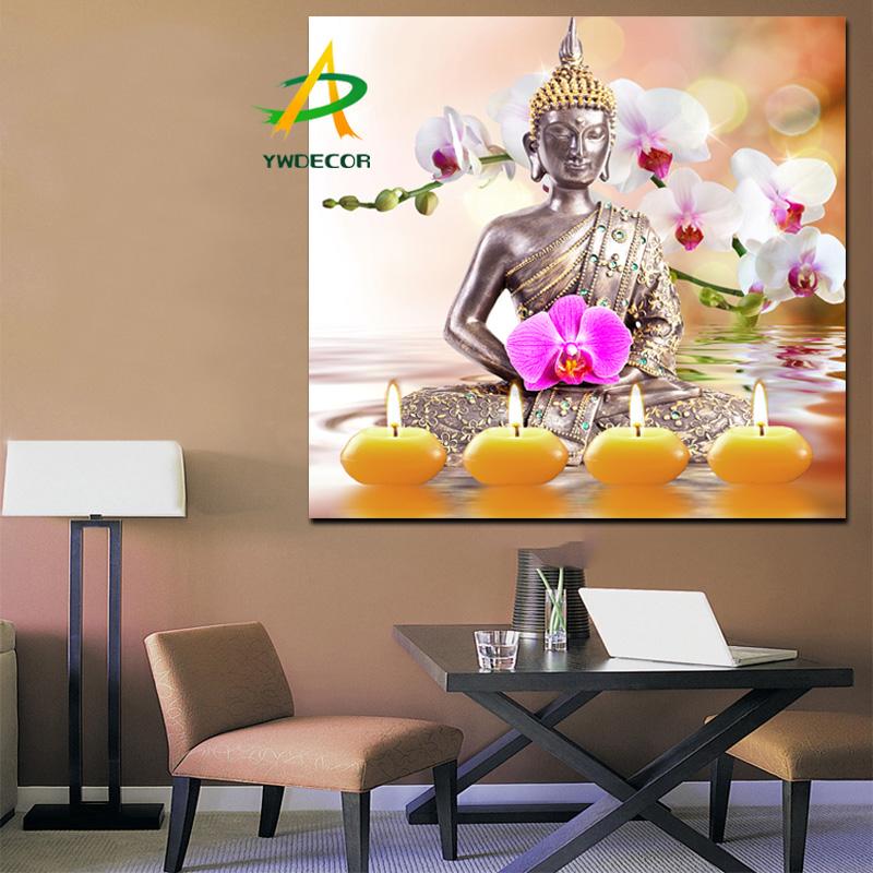boeddha zen foto met led verlichting canvas schilderij op de muur stof schilderen decoratie