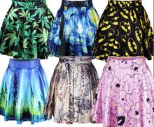 Vtipná jarní sukně s různými motivy z Aliexpress