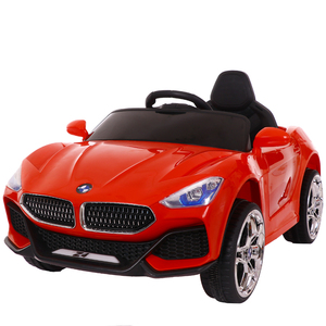 New Model Popular Red Battery Operated Electric Car Kids self driving toy car with LED light