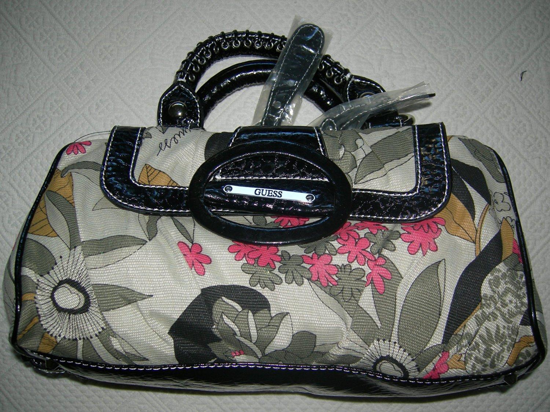 Get Quotations · Guess flower black Fabric Handbag a062c2db0990f