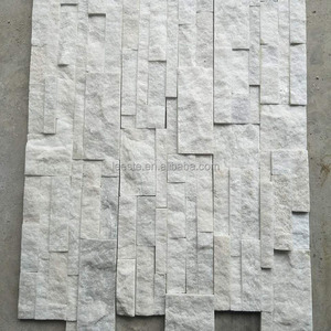 Chinese Popular Stack Stone Ledge Stone White Quartz Culture Stone for Wall Cladding