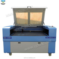 China laser cutter 1300mm*900mm cnc laser cutting for wood, mdf, plastic, acrylic, rubber QD-1390