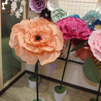 Artificial Make Tissue Crepe Paper Birthday Bouquet Flowers For Sale