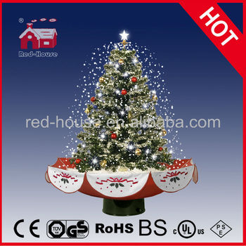 Canada Snowing Christmas Tree With Umbrella Base