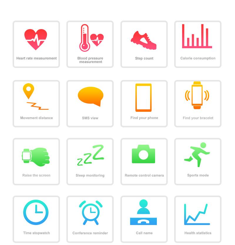 M200 Smart Band Wristband Heart Rate Monitor Blood Pressure Oxygen Fitness Tracker SMS Reminder Smart Bracelet watch