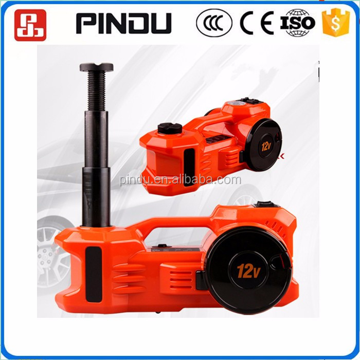 double lift horizontal hydraulic electric bottle jack with tire inflator pump