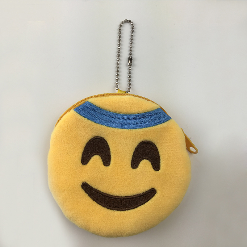 2018 Cheap custom plush toys , mini emoji wallet , Wechat/Whatsapp Emoji Plush Coin Purse
