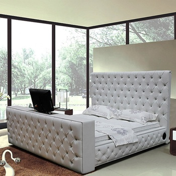 King Size Leather Bed With Automatic Tv