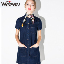 Female sexy girls short backless dresss elegant women denim jean dress 2015 women apparel