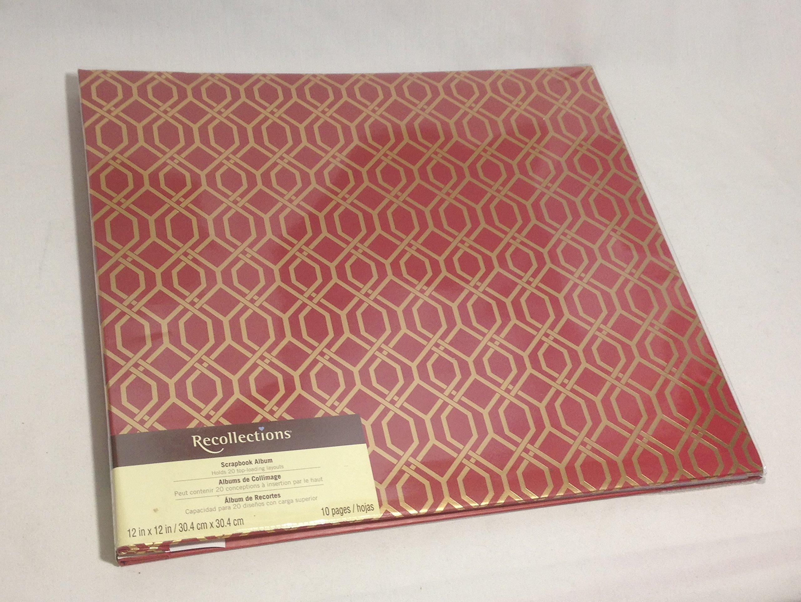 Buy Recollections Scrapbook Album 12x12 With 10 Pages Red Gold