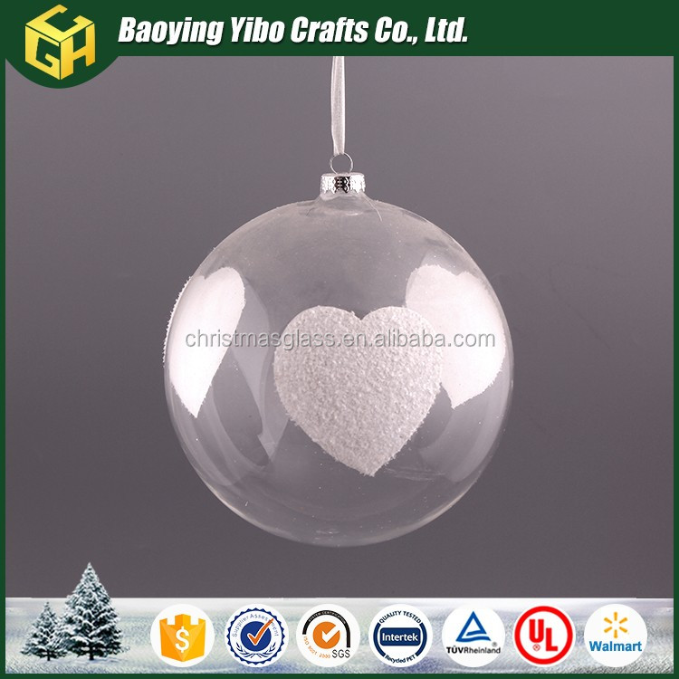 Wholesale cm clear glass christmas ball ornament buy