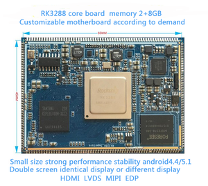 RK 3288 Quad-coe ARM CORTEX-A17 core board support 4K, H.265 hard decoding Small size Functional stability