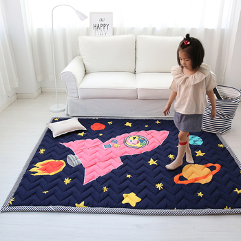 Hot Wholesale Kids Rug Folding Playmats For Baby Room Decoration Carpet Cartoon Baby Crawling Mat