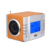 August MB300 Clock Radio with MP3 Alarm USB/SD/FM Station Rechargeable Portable Speaker