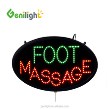 LED Neon Foot Massage Open Sign with Animation and Power (On/Off)