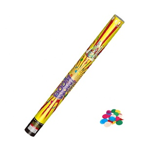 Boomwow Biodegradable Hot Sales Silver Handheld Compressed Air party popper Confetti Cannon for Graduation Party