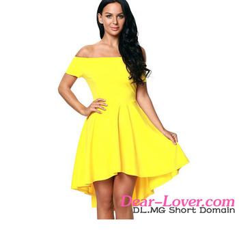 Vestidos amarillos de noche
