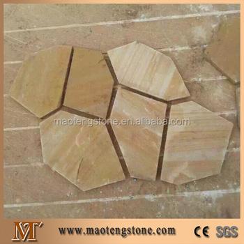 Yellow Slate Stone Tile Indoor Flagstone Flooring