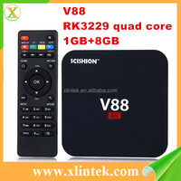 2017 Factory price OEM TV box Android 5.1 H.265 WiFi 4K Streaming Player Smart Internet TV Box V88