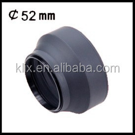 52mm 3 in 1 Lens Hood 3 Stage Rubber Lens Hood 3 in 1 Lens Hood
