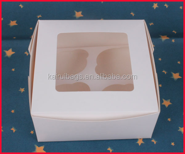 hot sale 4 grid lined 4 paper cupcake boxes
