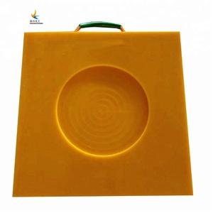 easy handled PE outrigger pad recyclable crane foot support board UHMWPE square anti slip pads