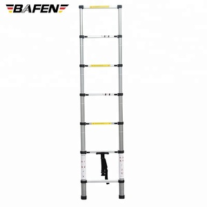 2M/6.5FT Folding Step Climb Aluminum Telescopic Extending Extension Step Ladder