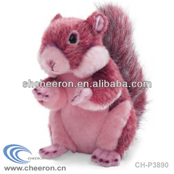 Cartoon characters plush white squirrel toys for kids
