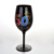 China Factory Champagne Wine Glasses Black Champagne Glass For Wedding with diamond figures