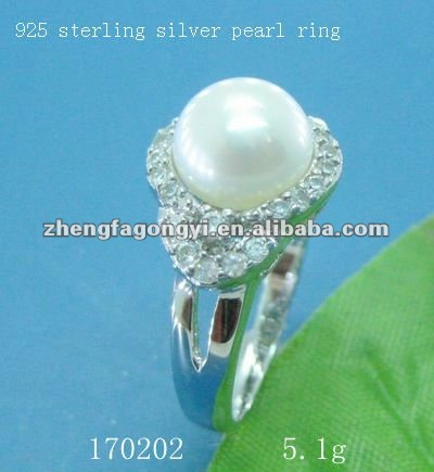 925 sterling silver ring semi mount for pearl jewelry