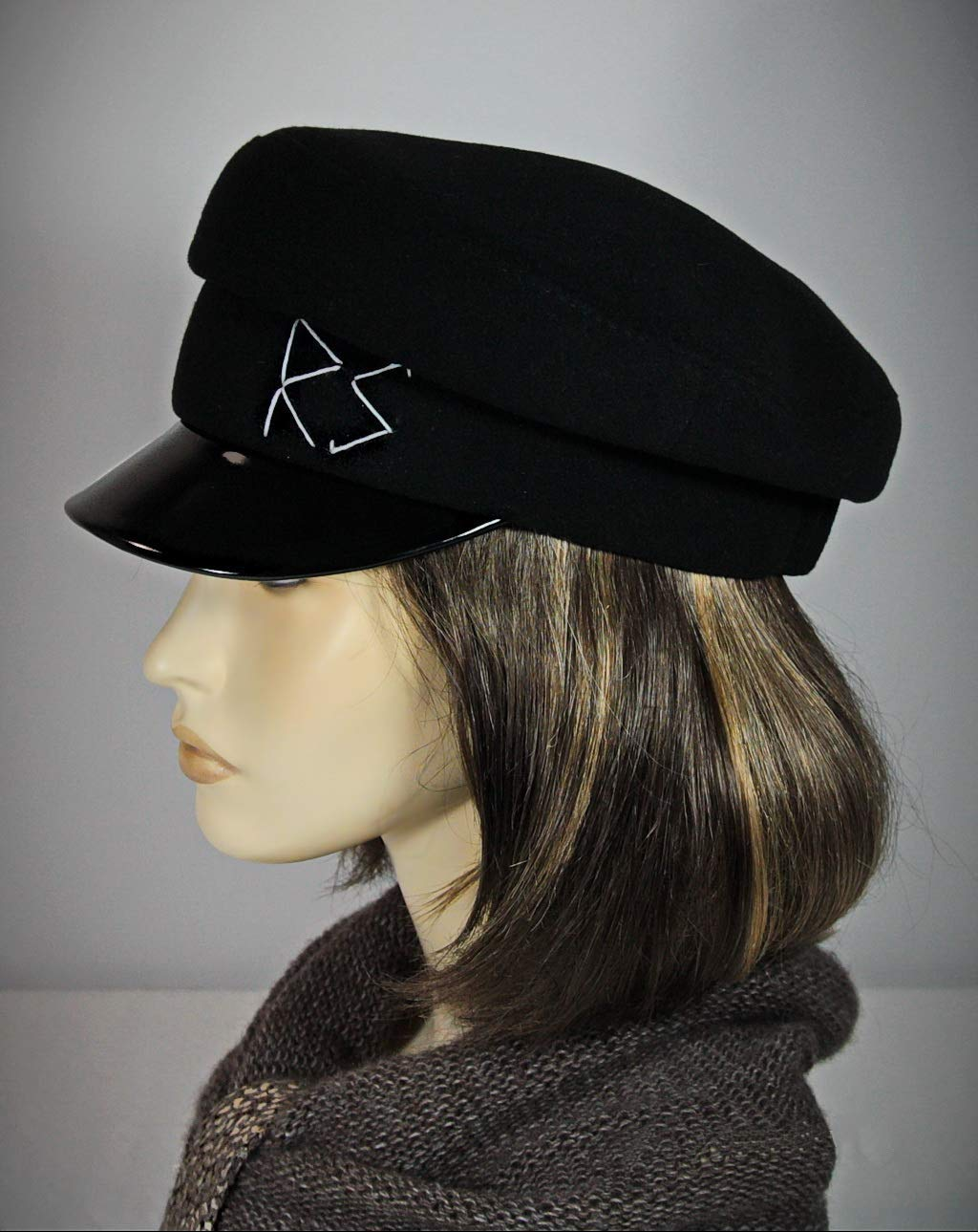 Breton Сap, Breton Hat, John Lennon Cap, Classic Breton Hat, Retro Cap, Baker Boy Cap, Captains Hat, Girls Baker Boy Hat, Ladies Baker Boy Hat,