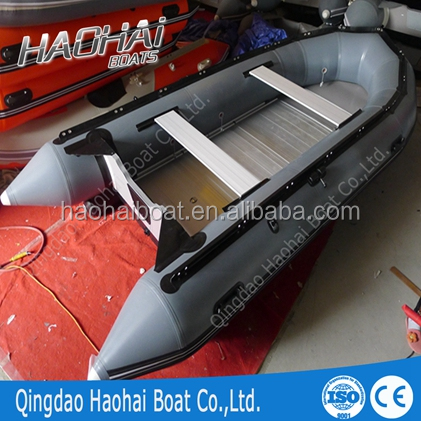 14ft 8person 430cm aluminum floor inflatable fishing boat for sale