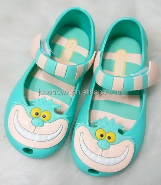 cute cartoon mini melissa plastic jelly shoes for kids