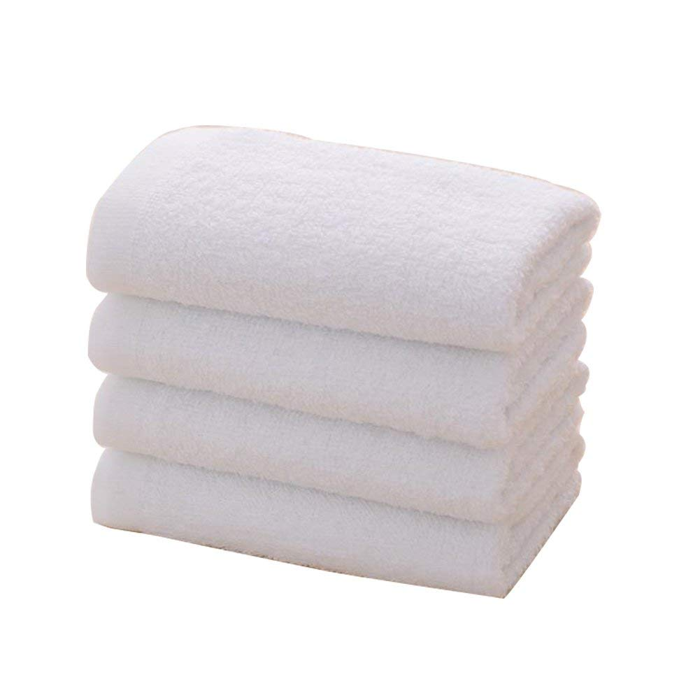 Get Quotations Bruio 4pcs Cotton White Towels Bath Hand Face Cleaning For Use At Home