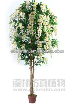 180cm artificial silk wisteria tree,silk hanging plants and trees in