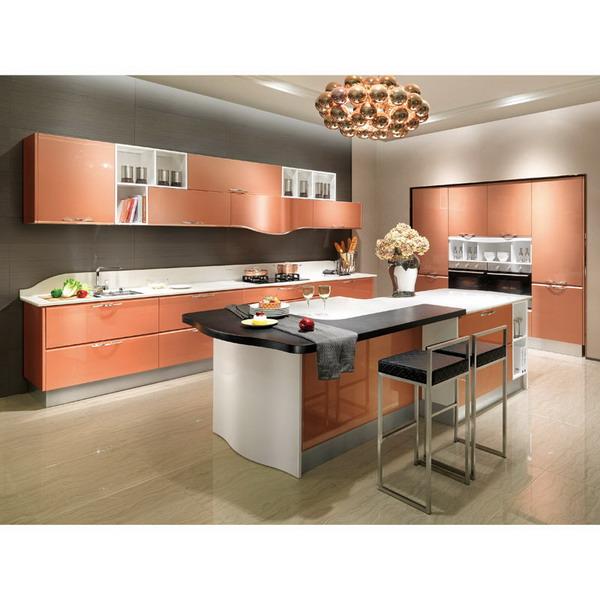 2014 oppein isla de laca gabinete de cocina modernos gabinetes de ...