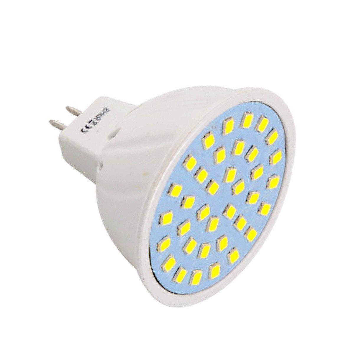 GR Warm White Cool White LED Spotlight AC 110-130V MR16 36LED 3W 2835SMD 200-300Lm (1PC) (Color : Cool White)