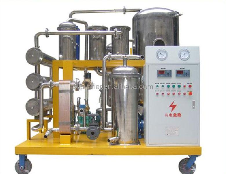 Acero inoxidable de alta eficiencia usado purificador de aceite lubricante, aceite de lavado máquina