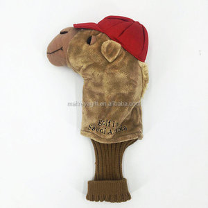 newest best selling fashionable knitted plush golf club animal head cover
