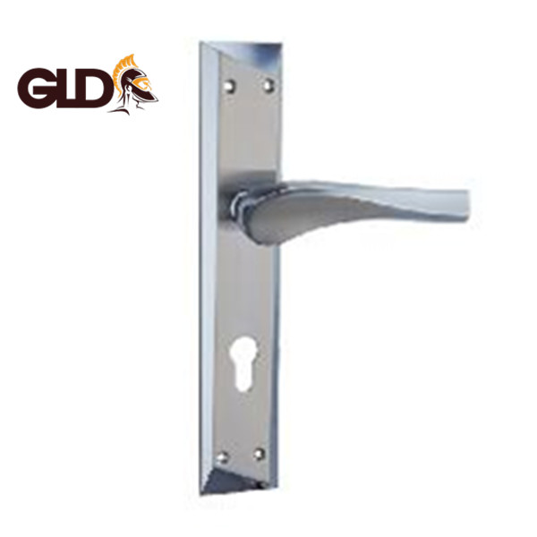 Glodiator 2018 new design Zinc Alloy/Aluminum door lever handle lock with plate P85283