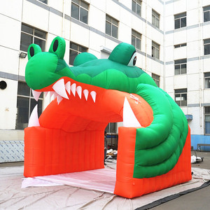 Advertising decoration crocodile cartoon inflatable arch shaped door inflatable animal entrance arch/inflatable tiger model