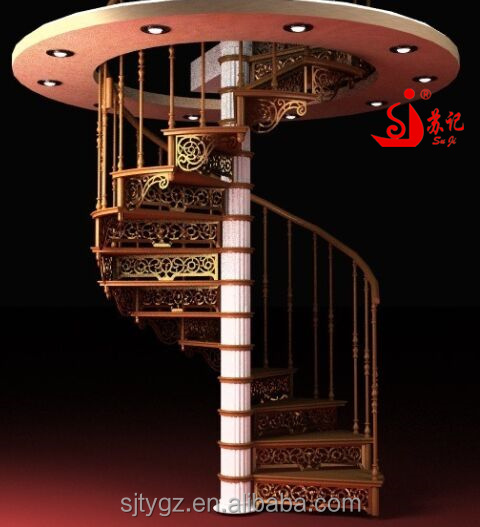 Hand-made indoor wrought iron/stainless steel sprial staircase good for save spaces
