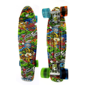 "100% new PP Hot Selling The Graphic 22"" Retro Style Cheapest Trucks Skate Board Skateboard"