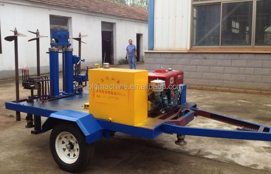 Drag type CPT machine static penetrometer equipment with vehicle