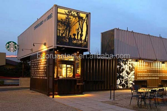 low cost chinese prefabricated shipping movable container office/ store/ Container collective apartmenthouse/ hotel /