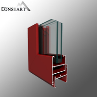 Constmart aluminium sliding folding, double glass sliding folding door wall beads curtain