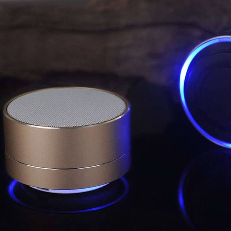 Best quality enjoy music subwoof speaker, minimalist wireless portable mini speaker with LED light