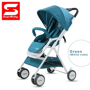 High quality Shandong lightweight baby stroller folding portable baby carriage trolley summer and winter white frame 3 in 1