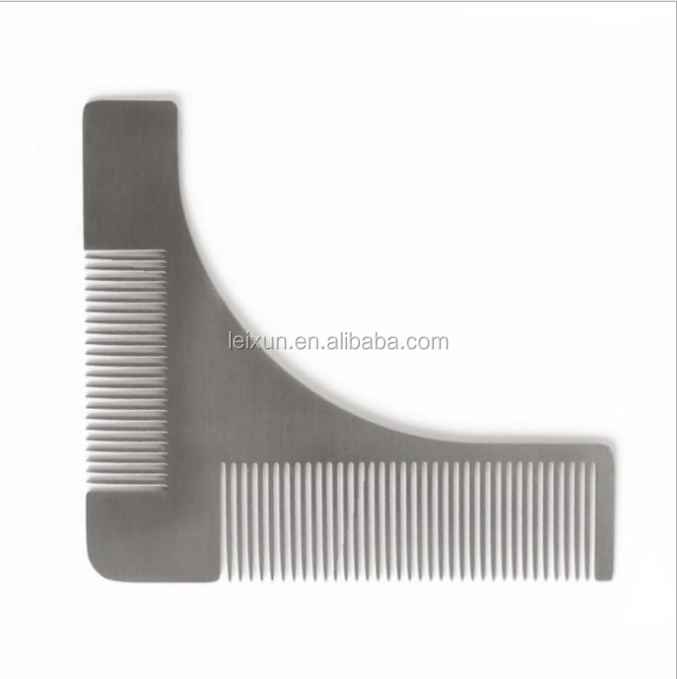 high quality Stainless steel beard styling shaping comb