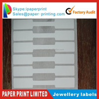 jewellery string price label hang tag with PVC material,26*12.5mm and provide printing serial number,logo etc